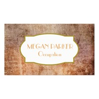 Chic Orange and Deep Purple Distressed Grunge Business Card
