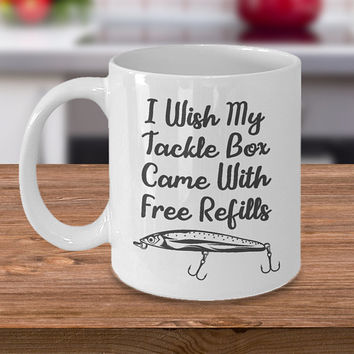 Funny Fishing Coffee Mug or Novelty Cup for Fishermen Makes a Great Fishing Gift That Is A Humorous Fishing Quote Perfect for Father's Day