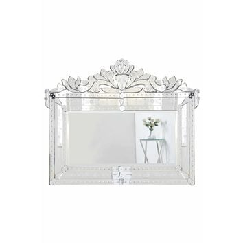 Venetian Clear 42.5-Inch Mirror (Silver)- Contemporary, Shabby Chic, Transitional