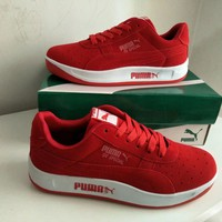 """Puma"" Unisex Sport Casual Low Help Plate Shoes Couple Fashion Thick Bottom Sneakers"