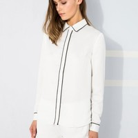 FINDERS KEEPERS Bright Side Shirt WHITE/BLACK
