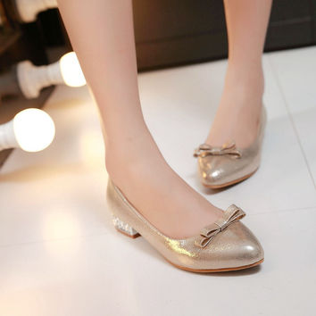 Pointed Toe Women Flats Patent Leather Shoes Woman