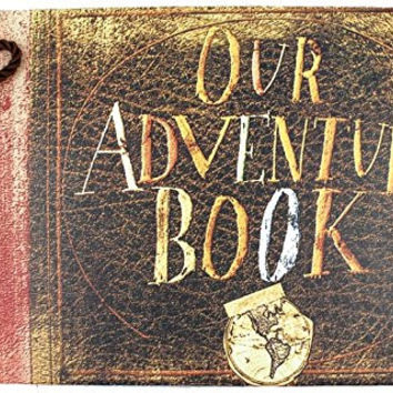 T-HAOHUA Our Adventure Book,Pixar Up Movie Theme,80 Pages Hand Made Loose Leaf Kraft Paper DIY Photo Album,Anniversary Scrapbook,Wedding Photo Album
