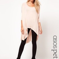 ASOS PETITE Exclusive Dip Back Top With 3/4 Sleeves at asos.com