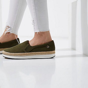 Khaki slip on espadrille flatform plimsolls - Plimsolls & Sneakers - Shoes & Boots - women