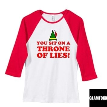 You Sit On a Throne of Lies Elf Shirt
