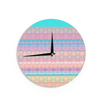 "Nina May ""Denin & Diam New Mexico"" Pastel Wall Clock"