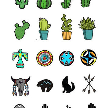 20 Southwestern Nail Decals | Water Slide | Easy & Fun