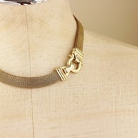 70s Buckle Mesh Necklace