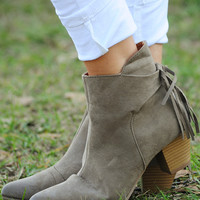 Hit The Road Booties: Taupe