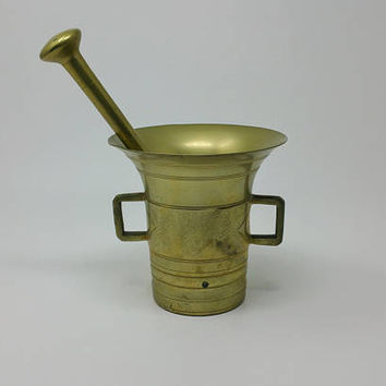 Vintage Large Bronze Large Apothecary Mortar and Pestle