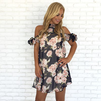 Ribbons & Roses Floral Shift Dress