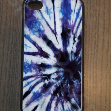 ON SALE Blue Tie Dye Rubber Case Fits iPhone 4/4S iPhone5/5S/5C Samsung Galaxy S3/S4