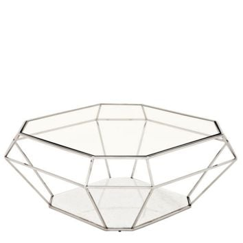 Nickel Glass Coffee Table | Eichholtz Asscher