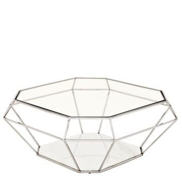 Eichholtz Asscher Coffee Table - Nickel