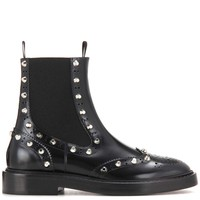Embellished leather Chelsea boots