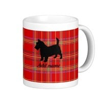 Scottish Terrier Dog and Plaid or Tartan mugs