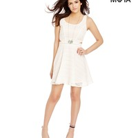 Aeropostale Womens Lace Dress - Beige,