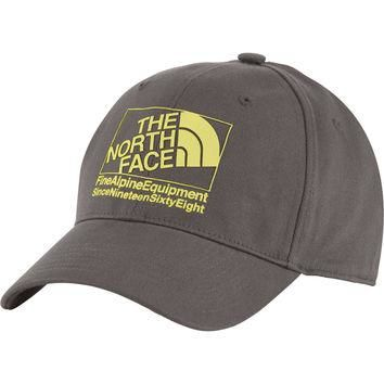 The North Face High Density Snapback Hat Graphite Grey/Acid Yellow, One