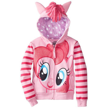 My Little Pony - Pinkie Pie Head Girls Juvy Costume Zip Hoodie