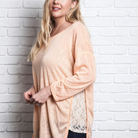 Relaxed Fit Top - Peach - Curvy