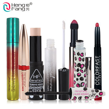 Makeup Set Lipstick Lip Gloss Eye Mascara Eye Shadow Eyebrow Makeup Brand HengFang