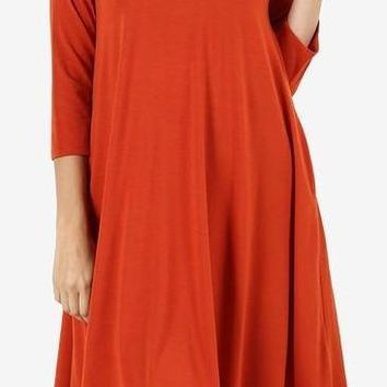 Fall Fun Dress: Rust