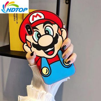 Super Mario party nes switch HDTOP 3D Cartoon Coque s Bros Soft Silicone Case for iPhone X 6 6S Plus 7 8 7Plus 8Plus Rubber Back Phone Cover Capa AT_80_8