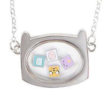 Licensed cool Adventure Time With Finn & Jake Shaker Pendant Necklace W/ Character Faces NEW