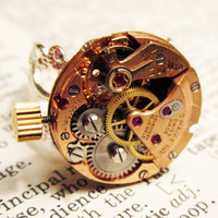Steampunk ring watch vintage C Maire watch by InsomniaStudios
