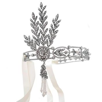 Great Gatsby Inspired Daisy Wedding Headband Headpiece