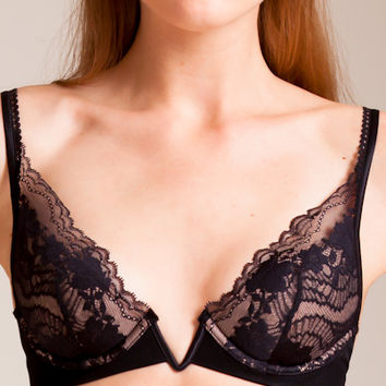 La Perla: Lapis Lace Padded Triangle Bra | Nancy Meyer
