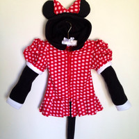 Disney Minnie Mouse inspired fleece hoodie by MagicPrincessWhitney