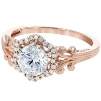 Ben Garelick Vintage Style Halo Diamond Engagement Ring