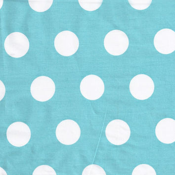 Pixie Baby in Aqua Polka Dot Extra Wide Fabric by the Yard   100% Cotton
