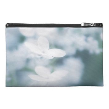 Beautiful white blossoms travel accessory bag