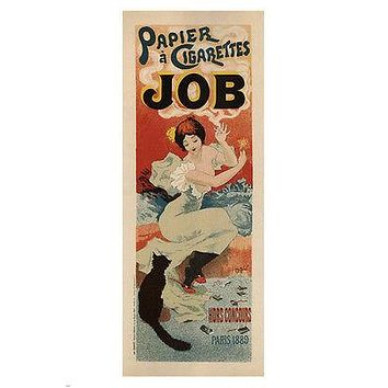JOB CIGARETTE PAPER Vintage Ad Poster Georges Meunier France 1894 24X36 new