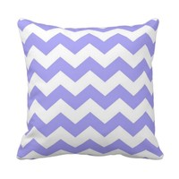 Purple And White Chevron Pillow