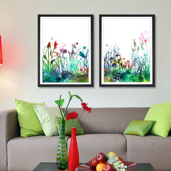 Flowers Art Print Set, Home Decor Watercolor Flowers Painting, Wall Art Print Poster, Watercolor Art, Botanical Art (61)