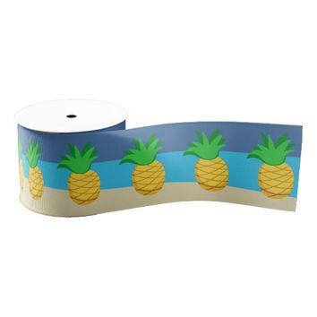 Kids Hawaiian Luau Party Grosgrain Ribbon