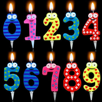 Number Candle Cake Candles Anniversary Ages Party Kids Birthday Decor Gifts