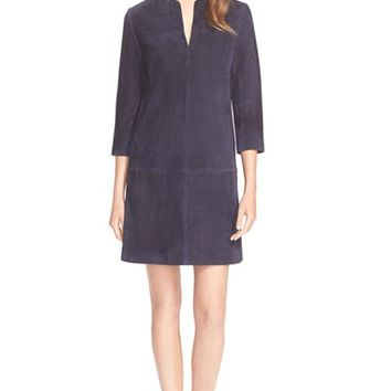 Women's Tory Burch A-Line Suede Tunic Dress,