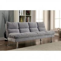 Saratoga Gray Futon Sofa With Contemporary Style