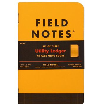 Utility Ledger Memo Book