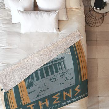 Anderson Design Group Athens Fleece Throw Blanket