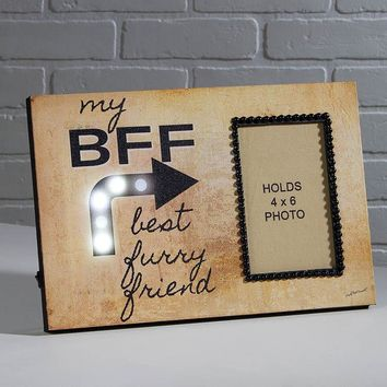 Lighted Best Furry Friend Photo Frame