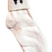 50s Poodle Bobby Socks w/ Pink or Black Poodle By Hey Viv ! - Women's Adult Size