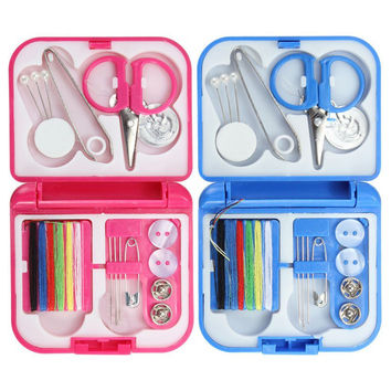 Portable Mini DIY Multi-function Sewing Kit Needle Thread Scissor Tools Home Travel Sewing Set