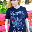 Liberation Is Love T-Shirt by Compassion Co.