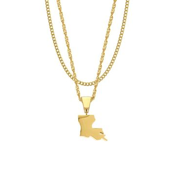 Mister State Necklace - LA, MA, MD, ME, MN